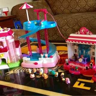 Barbie doll lot 2001 2010 2011 camper van rv fold out house car bed minis fun