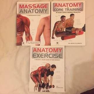 Anatomy, Exercise And Massage Books!