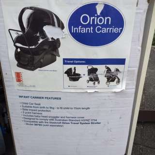 Steelecraft Orion Infant Carrier, New