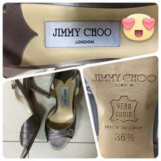 Authentic Jimmy Choo Satin Dinner Heels