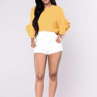 BRAND NEW white shorts