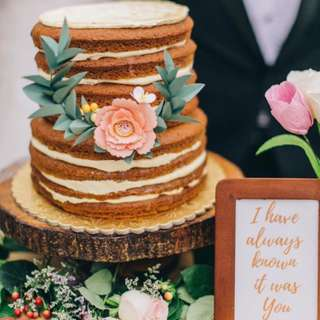 Paper Flower Cake Topper : Semi wreath