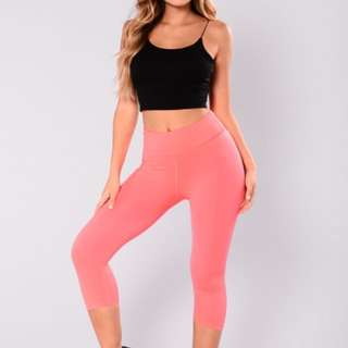 BRAND NEW coral pink comfortable workout pants