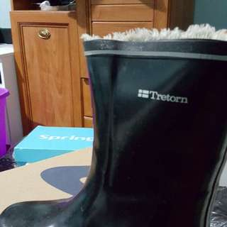 Tretorn Rubber Boots,  fur lined