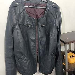 Auth Leather Jacket