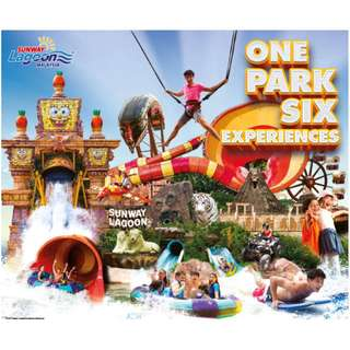 Sunway Lagoon All 6 Theme Park Entrance Tickets @ 25% OFF!