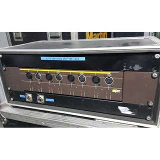 DMX splitter/booster eLite DisD4 (well maintained by qualified sound engineers) - c/w hard casing
