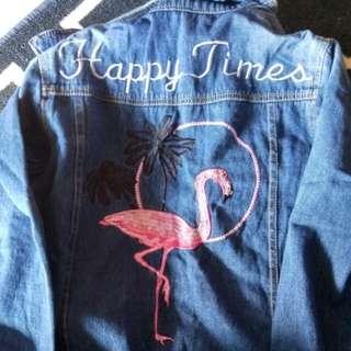 Jacket flamingo