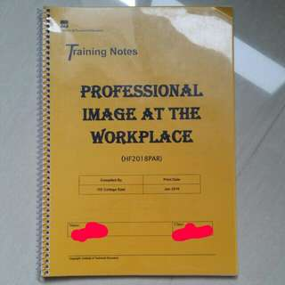 (6) ITE Beauty & Wellness Professional Image At The Workplace Training Notes Book #IDoTrades