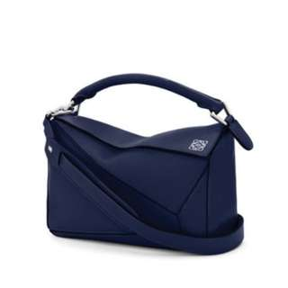 Loewe Puzzle Small Bag Marine Blue