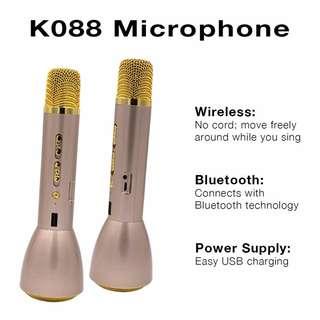 Wireless Bluetooth Karaoke Microphone Model KTV K088 with Speaker