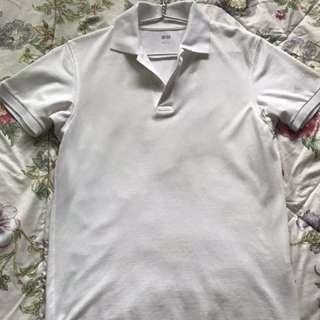 Uniqlo Button Up White Top