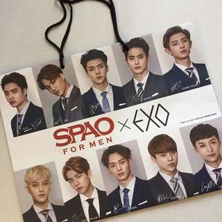 Exo SPAO limited edition paper bag