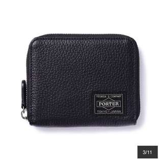 LUCCA black head porter wallet