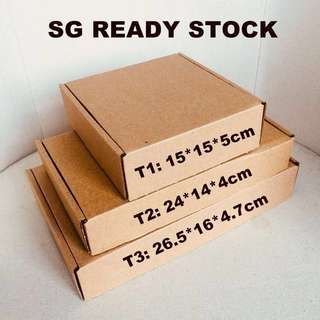 Cardboard pizza box in 3 size delivery packaging box