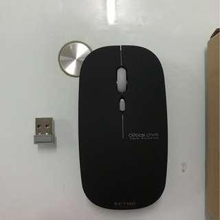 最新 可充電無線滑鼠 静音無聲 $40