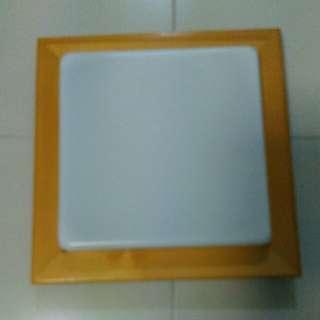 Wooden Frame LED ceiling light - daylight white