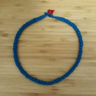 Handmade yarn knit necklace