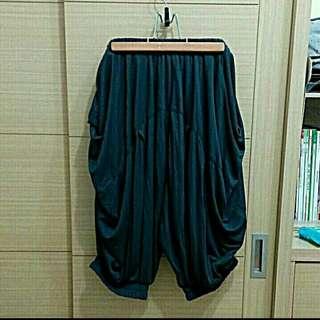 全新正版Gozo深灰色中性款棉質飛鼠褲哈倫褲五分褲燈籠褲縮口褲