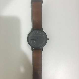 The Horse Watch - Tan wrist black face