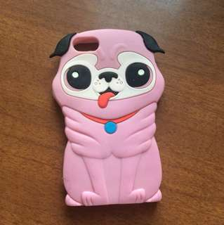 Pink pug iPhone 5 5S phone case