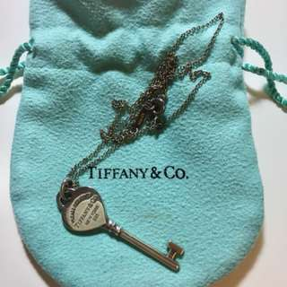 (Reserved)Preloved Authentic Tiffany Heart Key necklace
