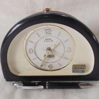 Vintage Emblem Seiko Desk  Alarm Clock