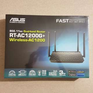 Shrink Wrapped Asus Wireless RT-AC1200G+ Dual-band Router 802.11ac