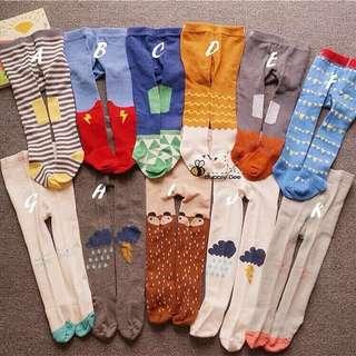 Korea Baby Girl Boy Legging Pants Combed Cotton Socks