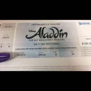 Tickets To Aladdin Melbourne 11/11/2017 8pm