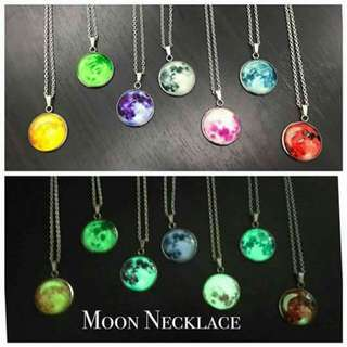 Moon Necklace with BOX