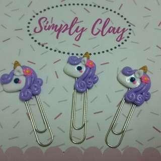3 pcs Unicorn paper clip
