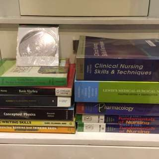 NURSING BOOKS AND RANDOM BOOKS