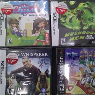 Nintendo DS and PS1 Games