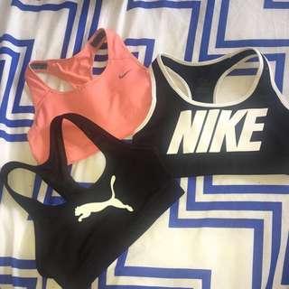 Nike and puma sports crops
