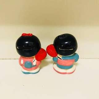 日本可愛夫婦陶瓷人偶
