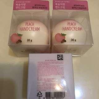 韓國桃形保濕潤手霜 peach hand cream