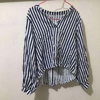 全新 條紋 上衣 恤衫 襯衫 間條 striped shirt