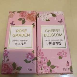 韓國品牌香水 玫瑰味 櫻桃味 rose garden cherry blossom