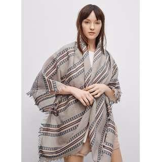 Aritzia Mixed Stripes Blanket Scarf