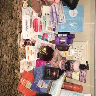 Body, brushes, bags, samples, face