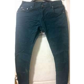 深綠色窄版長褲30腰|潮流|休閒