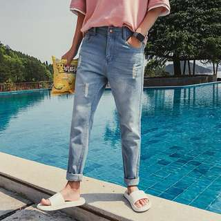 [PO]Man's Ripped Jeans