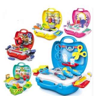 Mini Suitcase Kid Pretend Playset (Available in 5 Designs)