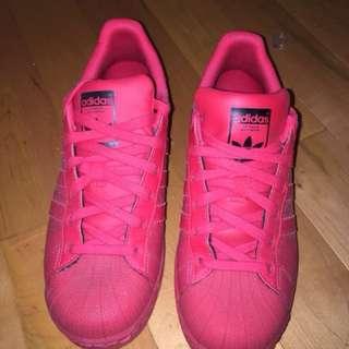 All Red Adidas Superstars