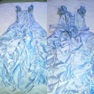 Light blue long gown