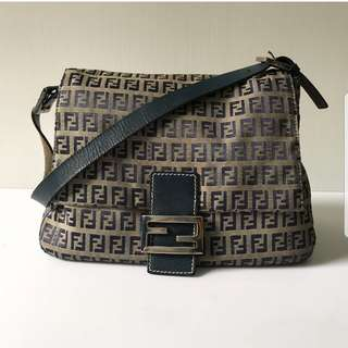 Authentic FENDI Zucca Mamma Shoulder Bag
