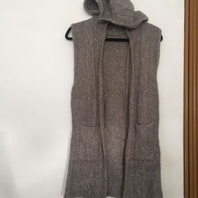 灰長版毛衣