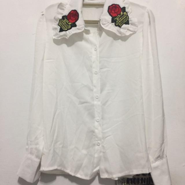 玫瑰長袖襯衫