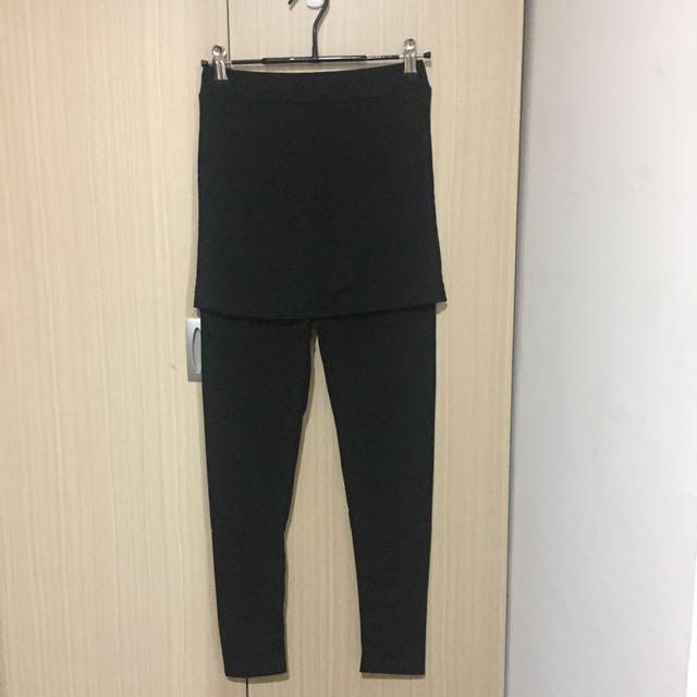 棉質假兩件褲裙